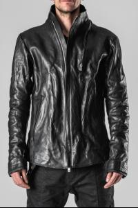 D.HYGEN 2-Zip Throne Collar Leather Jacket