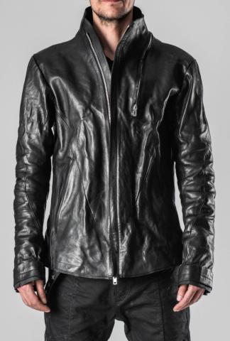 D.HYGEN 2-Zip Throne Collar Leather Jacket