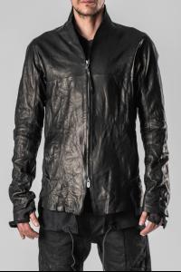 D.HYGEN Thin Lamb Leather Extended Mesh Lining Zipped Shirt