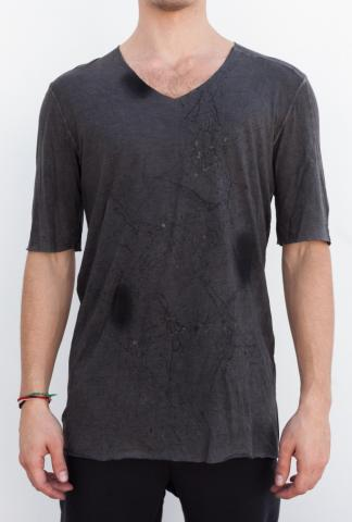Giovanni Cavagna Washed, Dyed Raw Edge T-shirt