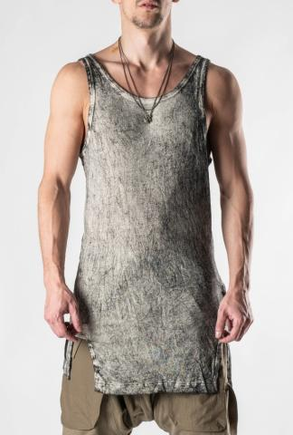 HAMCUS Coal White Dyed Silk Tank Top