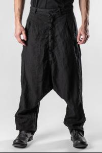 Pal Offner Textured Loose Low-crotch Trousers