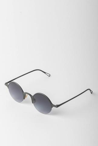 Rigards RG0091AG Hammered Oxidised Sterling Silver Sunglasses