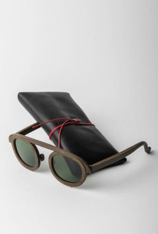 M.A+ Leather Sunglasses
