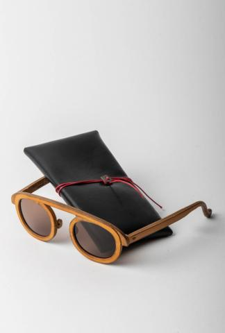 MA+ Leather Sunglasses