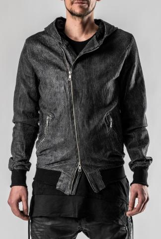 Giorgio Brato Laser Cut Hooded Leather Jacket