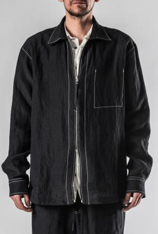 Andrea Ya'aqov Contrast Stitch Zipped Work Jacket