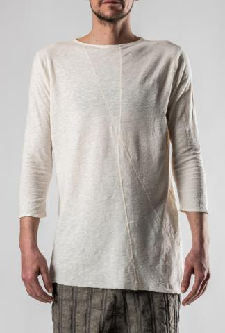 Un-Namable Raw Hem Three Quarter Sleeve T-shirt