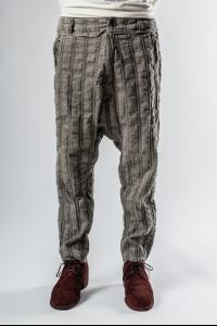 Un-Namable Striped Low Crotch Tapered Trousers