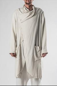 Syngman Cucala Asymmetric Draped Trench Coat