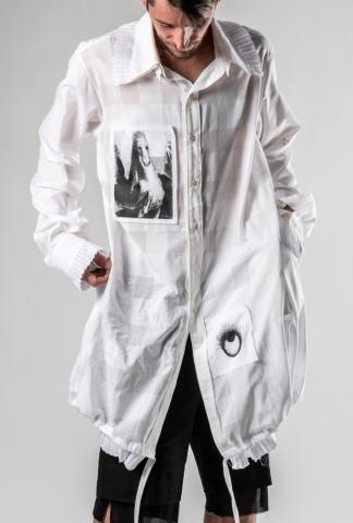 Ann Demeulemeester SHIRT KUBIN WHITE + RIGATINO WH