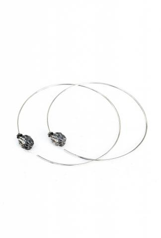 AMY GLENN POPPY HOOPS large silver