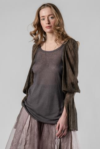 Phaédo Studios Tussah Silk Draped Long Sleeve Top