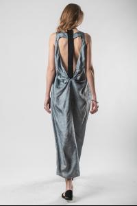 Phaédo Studios Tussah Silk Open Back Strapped Dress