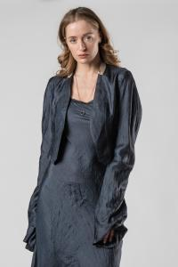 Phaédo Studios Tussah Silk Cropped Jacket with Elongated Sleeves