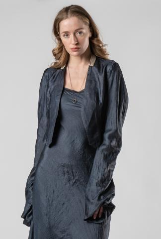 Phaédo Studios Tussah Silk Cropped Jacket with Elongated Sleeves