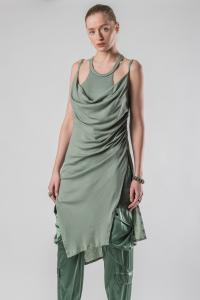 IANUA jersey tank dress w/laces DAKOTA
