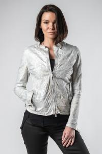 Giorgio Brato Silver Coated Leather Jacket