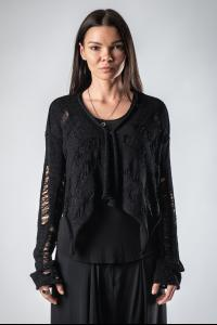 Alexandra Marchi Short Distressed Knit Cardigan