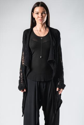 Alexandra Marchi long destroyed cardigan