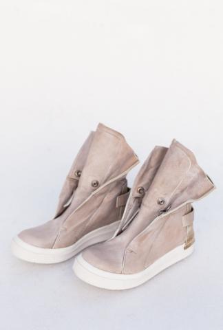 CA by Cinzia Araia Button Closure Leather High-top Sneakers