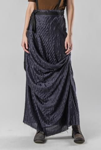 Aleksandr Manamis Silk Draped Long Skirt