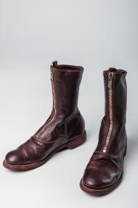 Guidi 310 Burgundy Front Zip Army Boots