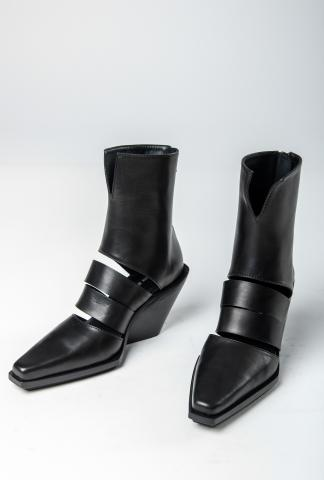 Ann Demeulemeester SHOES VITELLO SETA CRUST NERO