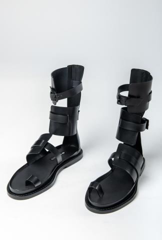 Ann Demeulemeester High Cuff Sandals (Vachetta Nero)