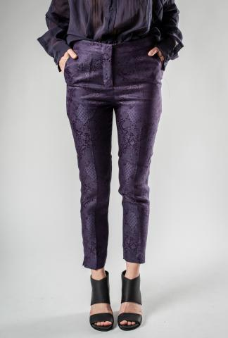 Isabel Benenato Jacquard Cropped Slim Pants