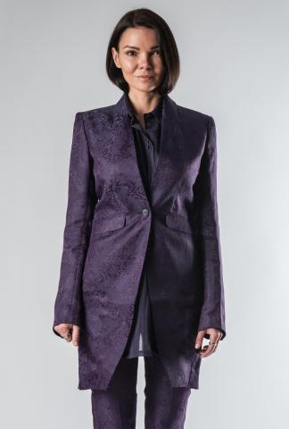 Isabel Benenato Jackard long jacket