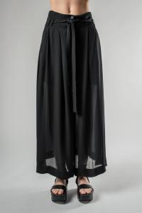 Isabel Benenato Side Slit Wide Pants