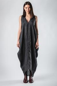 Lemuria Silk Blend Draped Dress