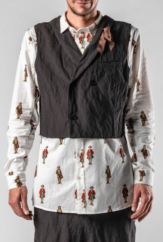 Aleksandr Manamis Metal Blend Double Breasted Waistcoat
