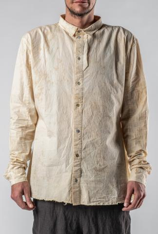 Aleksandr Manamis Tea Stained Raw Edge Shirt