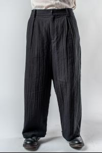 Aleksandr Manamis Structured Wide Trousers with Foldable Hem