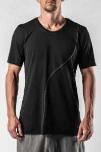 Irofusi Knitted Contrast Stitch T-shirt