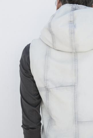 DEVOA Sheep leather hooded jacket