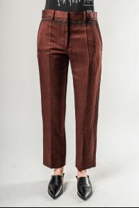 Haider Ackermann Cropped Straight Cut Trousers with Thorn Embroidery