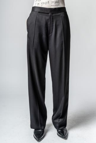 Haider Ackermann wider elastic band pants with sid