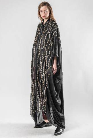 Haider Ackermann long caftan with gold stars