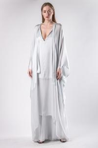 Haider Ackermann Long Semi Sheer Silk Kaftan