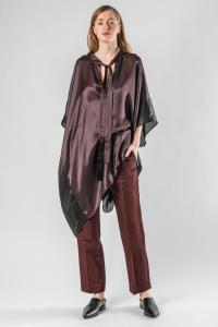 Haider Ackermann Short Two-colour Silk Kaftan