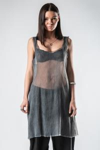 Un-Namable Elongated Textured Sheer Tank Top