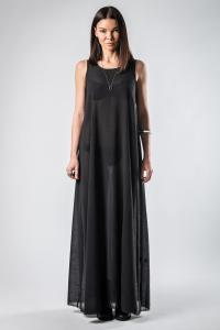 UN-NAMABLE essential Silk black dress