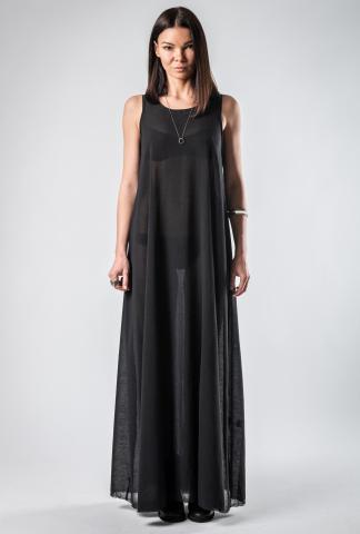 UN-NAMABLE essential Silk black dress