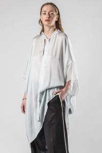 Haider Ackermann Short Semi Sheer Silk Kaftan