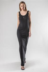 Haider Ackermann knot back slip  jersey dress