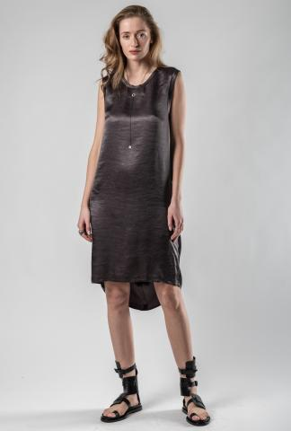 Ann Demeulemeester Classic Back-Draped Dress (Lambeth/Beetle)