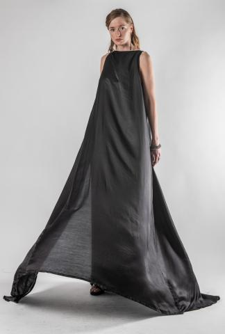 Ann Demeulemeester Double Layered Silk Dress